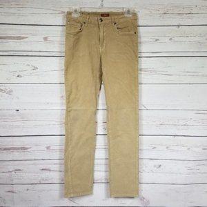 7FAM girls tan straight leg corduroy pants size 14